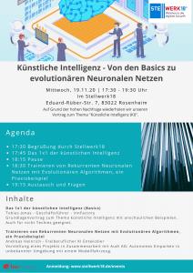 Flyer KI2 212x300 - Künstliche Intelligenz - Von den Basics zu evolutionären Neuronalen Netzen- verschoben auf 2021
